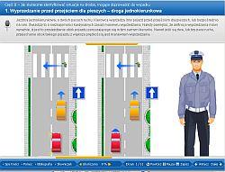 Jeden z 150 ekranów szkolenia 'Bądź bezpieczny na drodze'