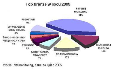 TOP branże w lipcu wg Netmonitoringu