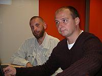 od lewej: dr Marek Jerzy Minakowski, dyrektor BU Wyszukiwarki i Katalog oraz Radosław Krawczyk, redaktor naczelny Onetu