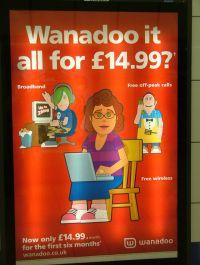 Reklama Wanadoo na przystanku w Londynie