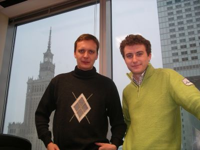 Artur Waliszewski i Adam Kwaśniewski w warszawskim biurze Google