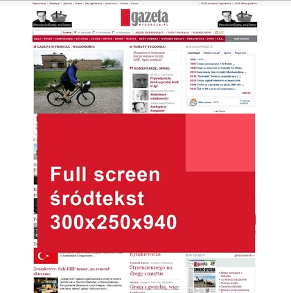Format 'full screen'