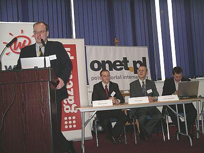 Od lewej: Andrzej Garapich, prezes PBI, Marcin Pery, Piotr Ejdys oraz Artur Zawadzki - Gemius