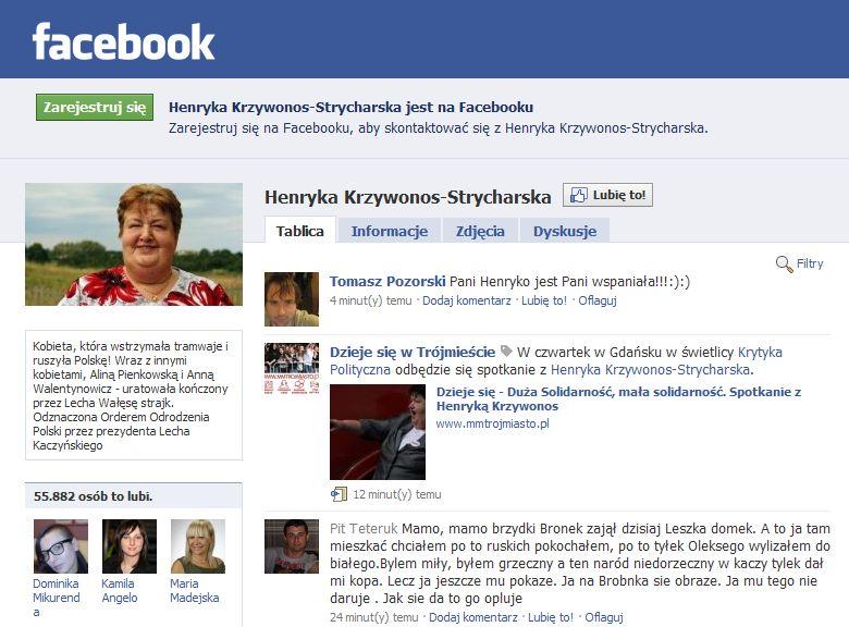 Strona poparcia Henryki Krzywonos