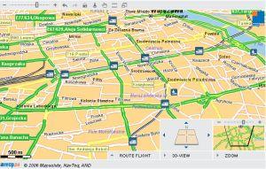 Niektóre funkcje, jak wyszukiwanie hotelu w pobliżu, nie działają jeszcze na mapach dla obszaru Polski