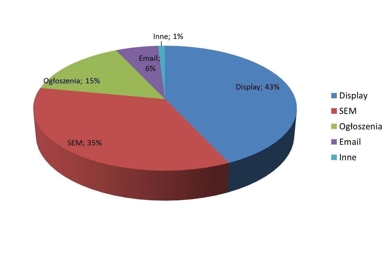 Źródło: Raport strategiczny IAB, 2013