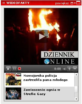 Odtwarzacz wideo na Dziennik.pl