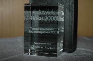 Nagroda dla Tomasza Czechowicza, człowieka roku 2006 r. Internet Standard
