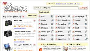 Radar.pl - nowa porównywarka cen na rynku