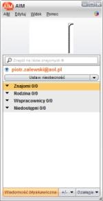 Komunikator AIM. Czy AOL.pl uda się zdobyć tylu użytkowników, by po instalacji AIM lista kontaktów nie świeciła pustkami?