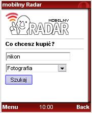 Mobilny Radar w przeglądarce Opera Mini