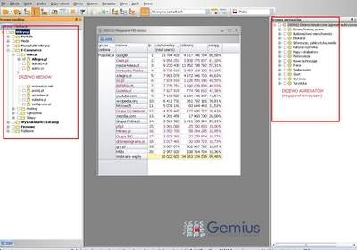 Zrzut z aplikacji gemiusExplorer - To właśnie tu odczytuje się wyniki badania Megapanel PBI/Gemius