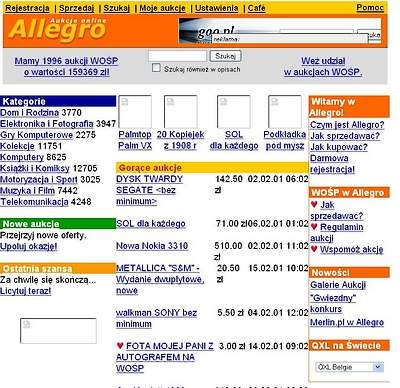 Tak Allegro wyglądało ponad 8 lat temu.