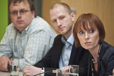 Panel dyskusyjny <br> Michał Rutkowski, Tribal DDB; Wojciech Kwiatkowski, TradeDoubel; Urszula Sławek, Nasza-Klasa.pl<br>fot. Piotr Gęsicki