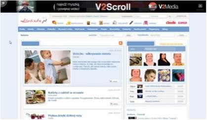 V2Scroll promujący nową formę na Kobieta.pl