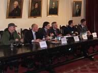 Uczestnicy debaty w siedzibie BCC
