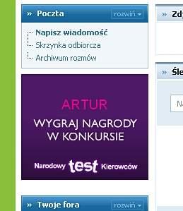 Przykład reklamy spersonalizowanej na serwie Nasza Klasa.