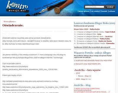 Blog (R)ewolucja już trwa na platforie Kontrowersje.net