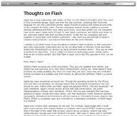 ...i jego list otwarty o Flashu