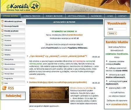 Na stronie znaleźć można także informacje odnośnie stosowania poprawnej polszczyzny.