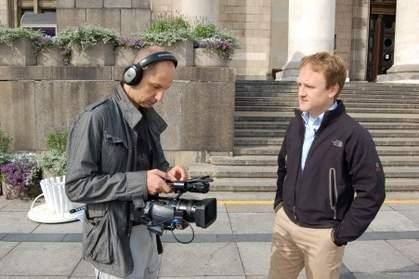 Na planie: Artur Kurasiński (z prawej) i Michał Glock <br> fot. Unipublica.com
