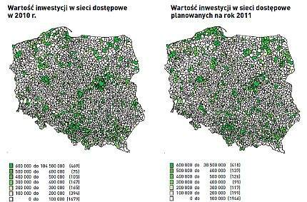 Gdzie w Polsce najwięcej inwestuje się w sieci Internetowe