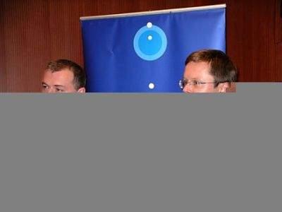 Piotr Walter, prezes TVN oraz Jan Łukasz Wejchert, prezes Grupy Onet
