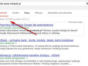 Nowy mBank.pl - analiza serwisu ze względu na SEO