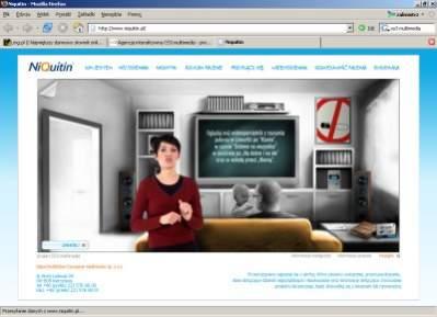 Serwis Niquitin wykorzystujący technologię wideo, przygotowany przez agencję OS3 multimedia