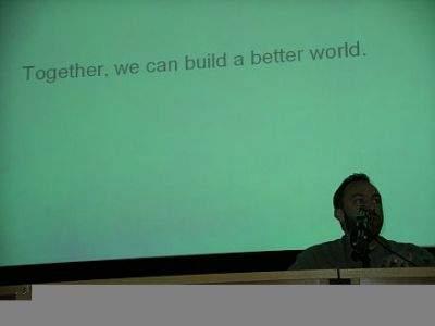 Motto Wikipedii: Razem możemy zbudować lepszy świat