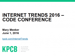 Raport Mary Meeker: Internet Trends 2016