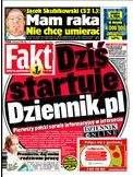 """Start nowego serwisu odnotował na pierwszej stronie Fakt, zaznaczając, że dziennik.pl to """"Pierwszy polski serwis informacyjny"""""""