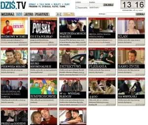 """W serwisie można """"zobaczyć"""" co jest grane w TV."""