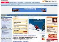 Pierwsza wersja strony Travelplanet.pl