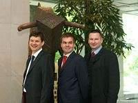 Twórcy Travelplanet.pl, od lewej: Piotr Multan, Tomasz Moroz i Łukasz Bartosiewicz
