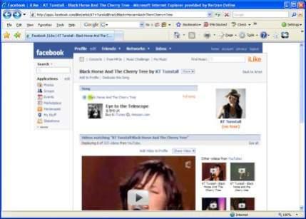 Aplikacja iLike w Facebook
