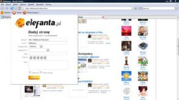 W ten sposób dodaje się nową witrynę do Elefanta.pl