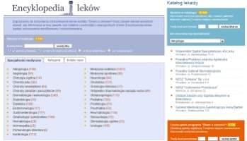 W serwisie można znaleźć m.in. rozbudowaną encyklopedię leków