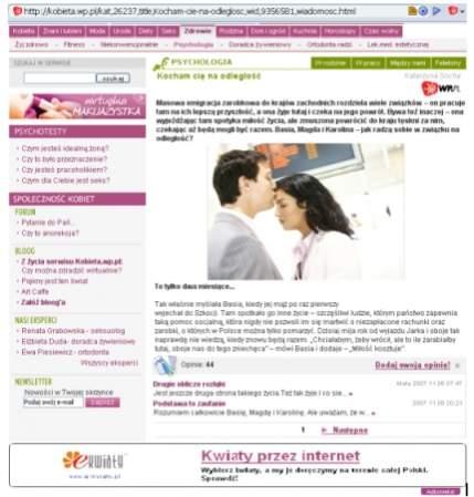 Na dole widać reklamę AdKontekst Exclusive