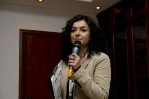 Teresa Wierzbowska, Gemius S.A., prowadząca konferencję. Źródło: Mediarun.pl