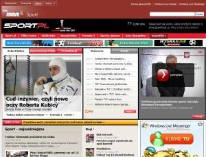 MSN Sport to po prostu serwis Sport.pl Agory w nowej skórce